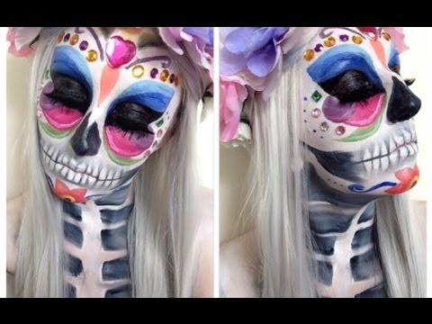 Day Of The Dead Makeup Tutorial ♡ Halloween Butterfly Design ...