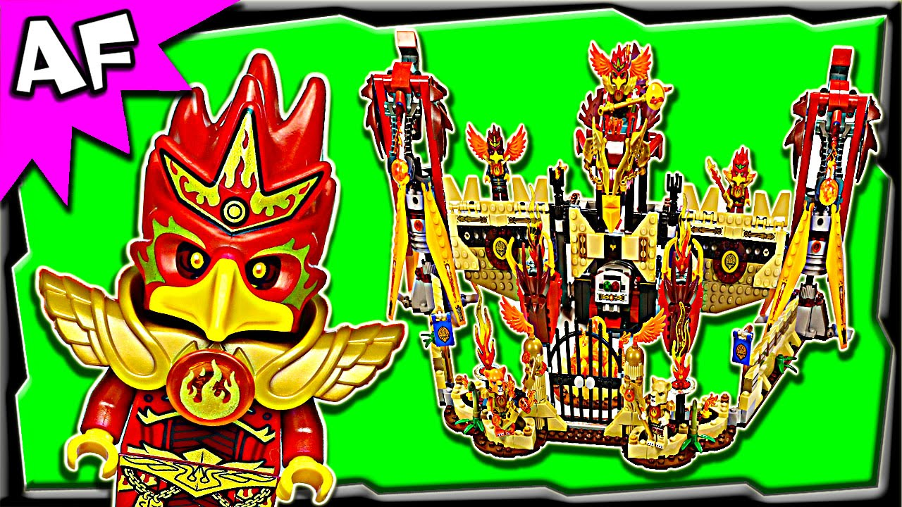 lego chima flying phoenix fire temple 70146 stop motion
