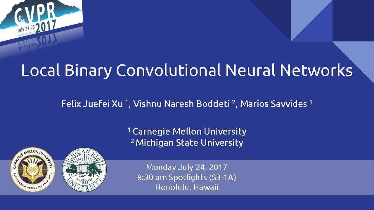 CVPR'17 - Local Binary Convolutional Neural Networks (Spotlight)