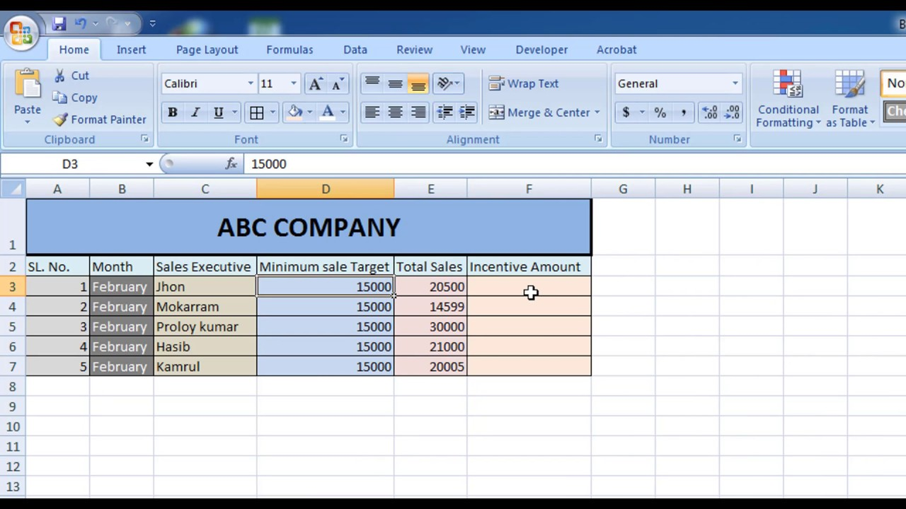 How To Calculate Incentive For Sales Executive In Excel