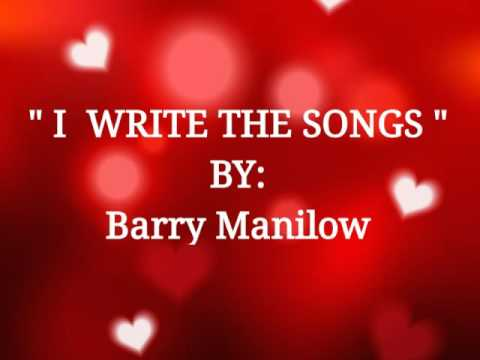 I WRITE THIS SONGS with Lyrics :Barry Manilow