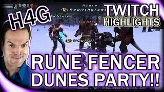 FFXI in 2017 - Rune Fencer Dunes Party! - Twitch Highlights
