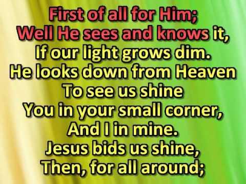 Jesus bids us shine