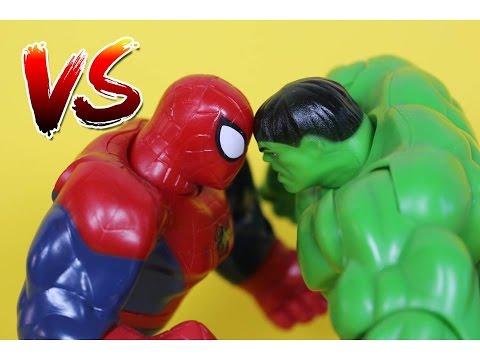ЧЕЛОВЕК ПАУК Против ХАЛКА Битва Супергероев Spider-Man vs. Hulk Superheroes Battle