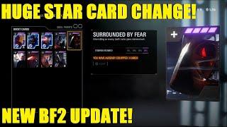 HUGE STAR CARD CHANGE! NEW APPEARANCES! BF2 UPDATE!  STAR WARS BATTLEFRONT II LIVE