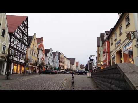 Christmas preparations in romantic Guenzburg, Germany