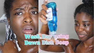 I USED DAWN DISH SOAP TO WASH MY NATURAL HAIR! (TYPE 4)
