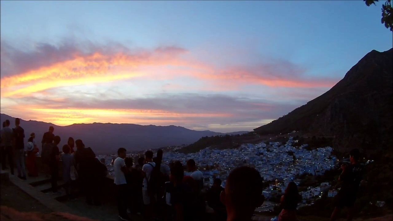 Sunset in Chefchaouen, Morocco
