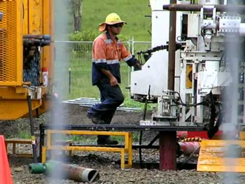 Coal Seam Gas Drilling At Kerry Queensland
