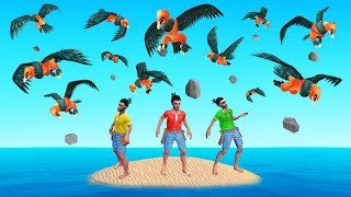 RAFT But GIANT BIRDS Attack Every 10 SECONDS! (mod)