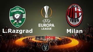 Ludogorets Razgrad vs Milan - UEFA Europa League | PES 2018 Smoke patch X16