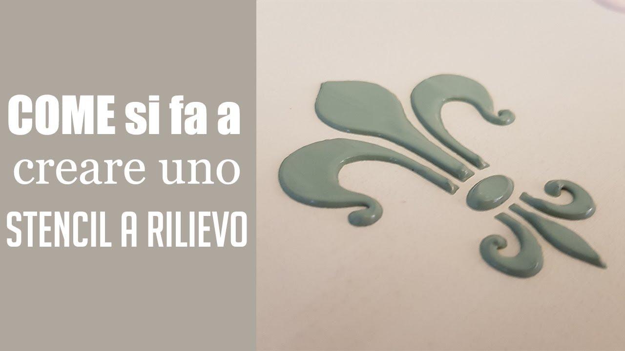 Stencil A Rilievo Con Stucco E Vintage Chalk Paint Youtube