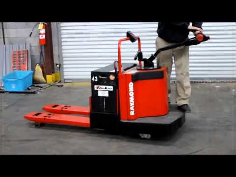 RAYMOND RIDE ON ELECTRIC PALLET JACK,