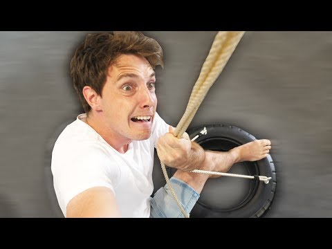 CRAZY INDOOR TIRE SWING!