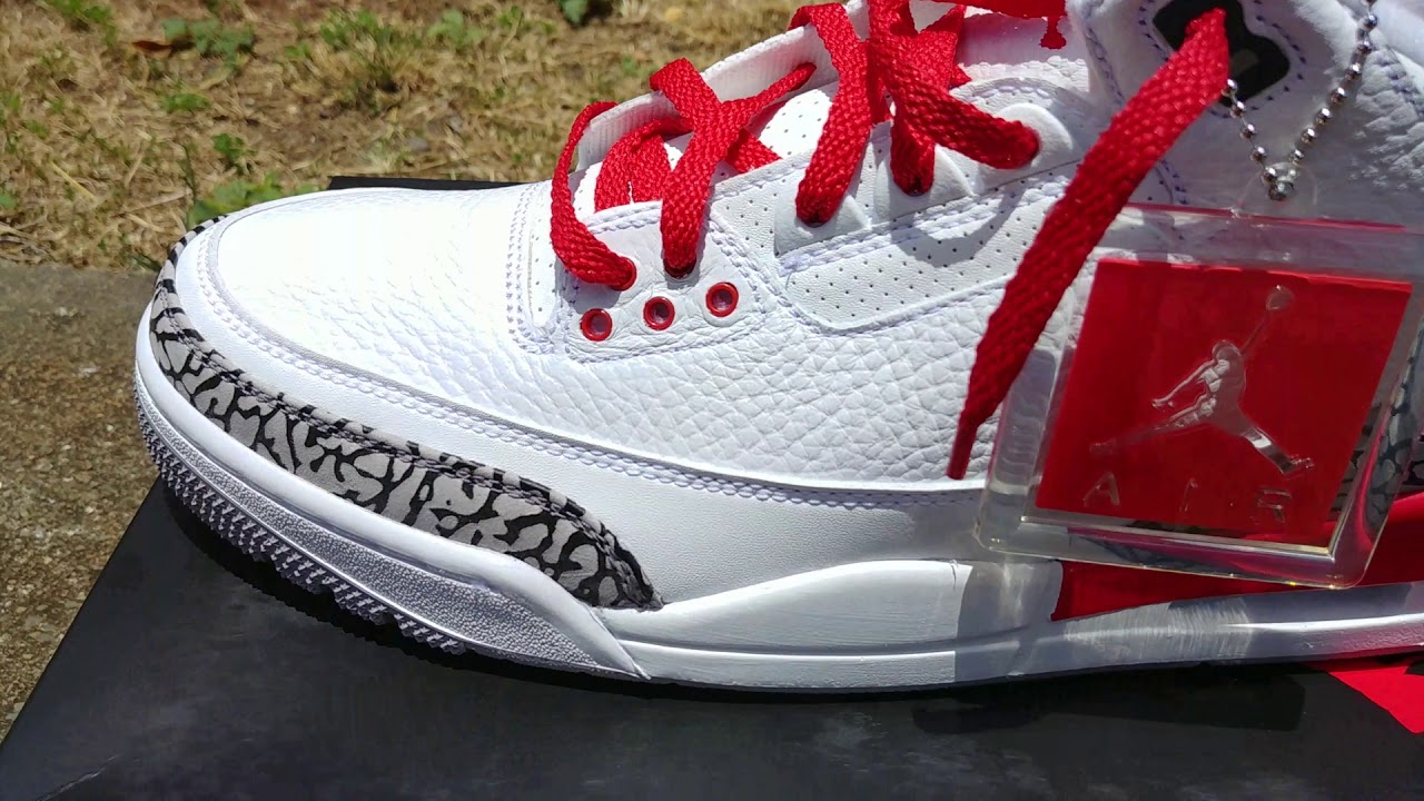 f8f92c4f32f Jordan Retro 3 Katrina  Hall of Fame Review and Lace Swap - YouTube