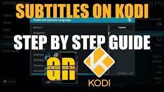 KODI SUBTITLES IN ALL LANGUAGES STEP BY STEP GUIDE
