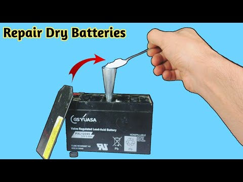 How To Repair Dry Batteries At Home