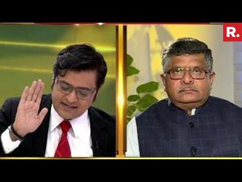 Ravi Shankar Prasad On Nation Wants To Know With Arnab Goswami | Exclusive