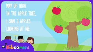 Five Apples In The Apple Tree | Kids Song Lyrics | Preschool Songs About Apples | The Kiboomers