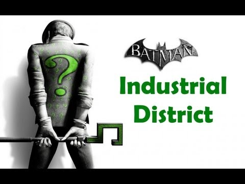 """Batman Arkham City"", ALL Riddler's challenges (trophy/secret/riddle) - Industrial District"