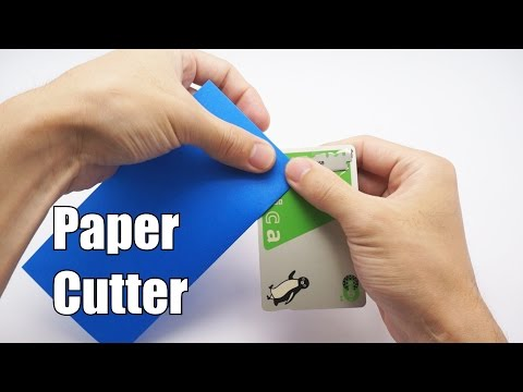 HOW TO MAKE A PAPER CUTTER - Origami Tip #7