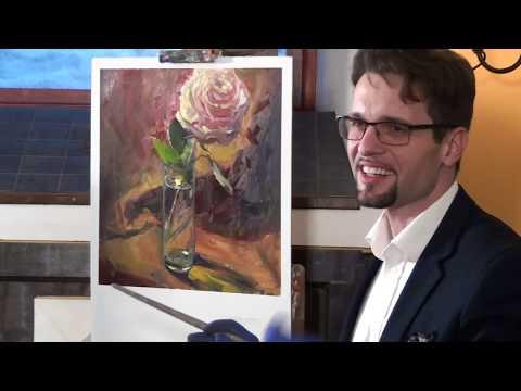 Мастер класс по масляной живописи от Ярослава Терновского. Роза