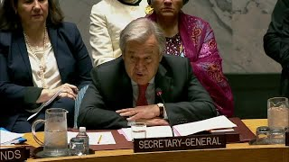 António Guterres (UN Secretary-General) on the Situation in Syria - Security Council, 8232nd meeting