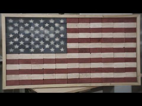 DIY Rustic Wooden American Flag Build