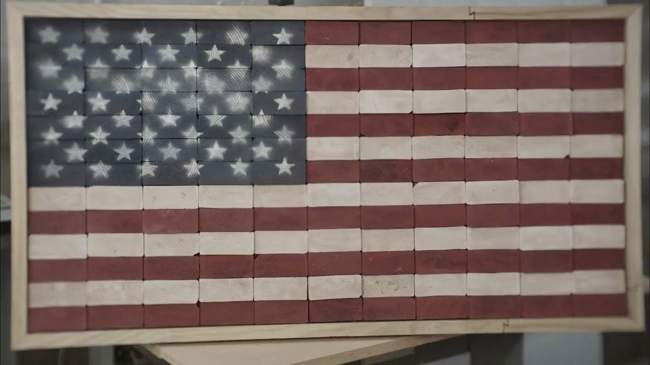 Diy Rustic Wooden American Flag Build Youtube