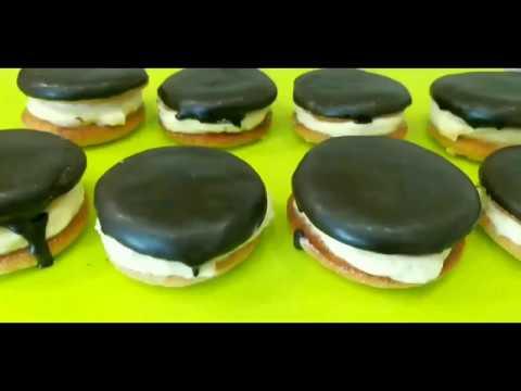 Пирожное Буше. Бисквитное печенье с кремом.