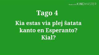 4ra Tago – Kia estas via plej ŝatata kanto en Eo? Kial? #30DRYC