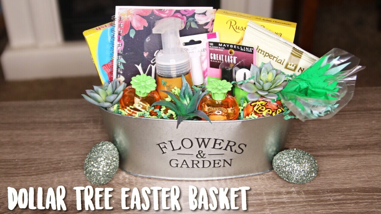 Dollar Tree Adult Easter Basket 2018 Farmhouse Youtube