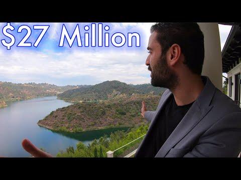 INSANE Bel Air Mega MANSION TOUR with Panoramic lake views - $27 Million