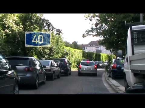 Driving from Bochum to Essen, Germany [HD720p]