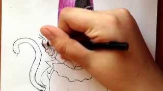 Как рисовать монстр хай Кетти Нуар.(через YouTube Объектив., 2014-03-31T12:47:02.000Z)