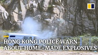 Hong Kong police carry out rare explosives demonstration