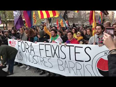 Manifestación antifascista contra el acto de Vox
