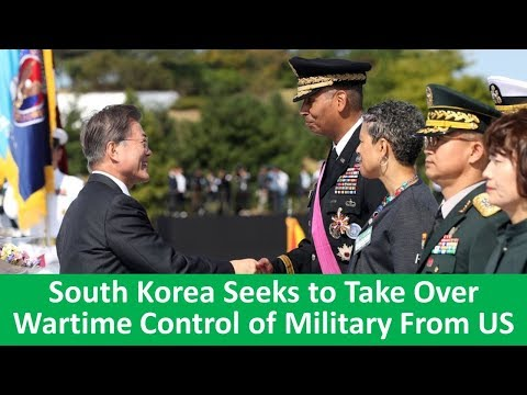 Learn English with VOA News - South Korea Seeks to Take Over Wartime Control of Military From US