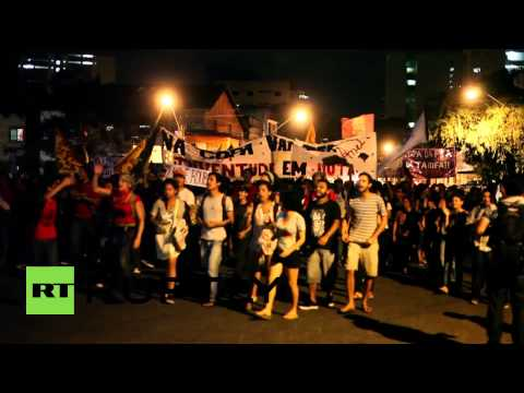Brazil: Police and anti-World Cup protesters clash in Belem