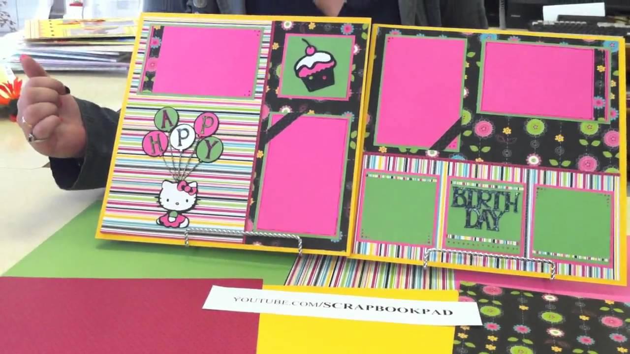 Hello kitty scrapbook ideas - Hello Kitty Layout