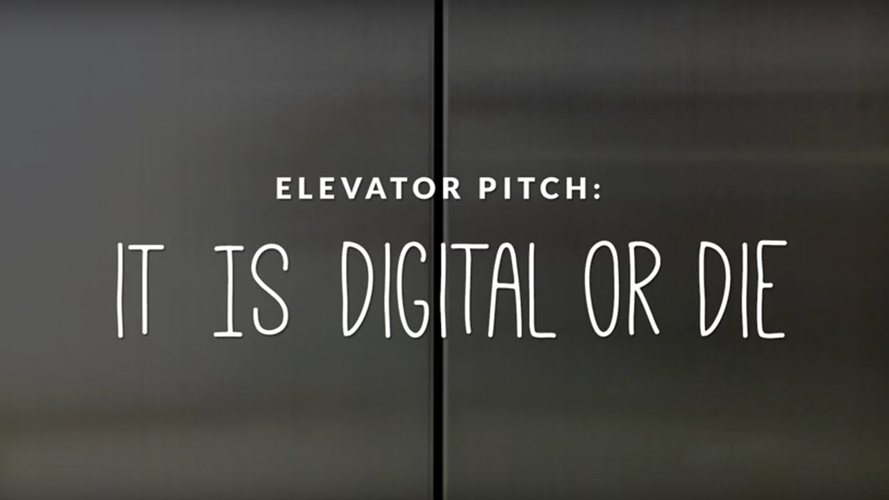 Elevator Pitch: It\'s Disrupt or Die - YouTube