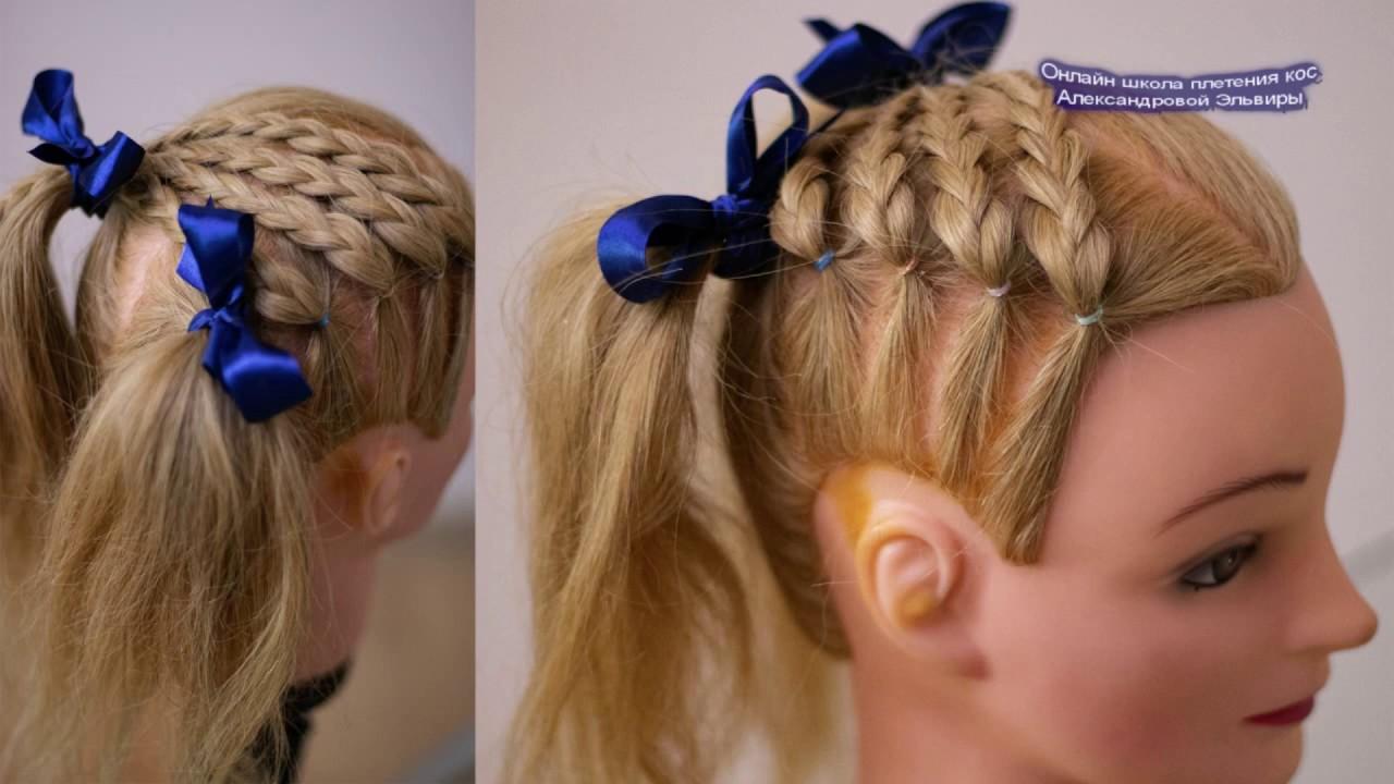 Детская причёска Очень просто и быстро Коса из 3 прядей