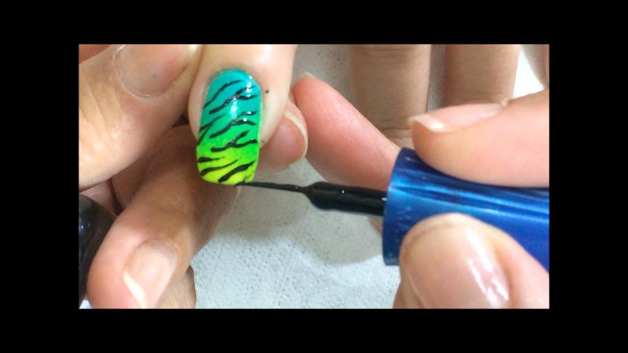 Como hacer decorado en u as en color fosforescentes con - Decorados de unas ...