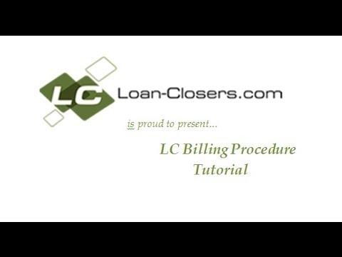 LC Website Tutorial -- Billing Procedure