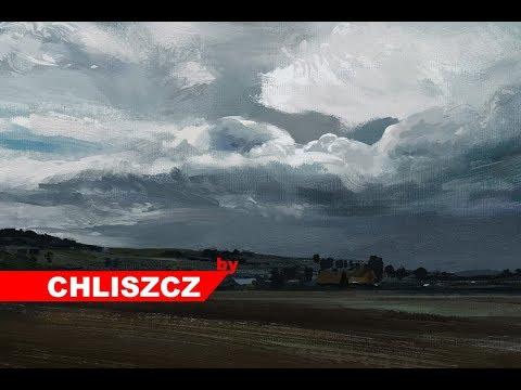 Photoshop CC digital painting – Landscape before the storm