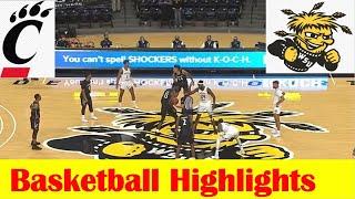 Cincinnati vs Wichita State Basketball Game Highlights 1 10 2021