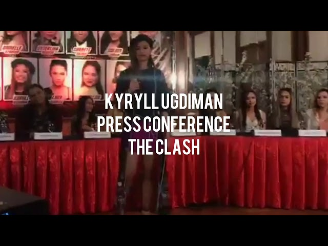 Kyryll Ugdiman  The Clash Press Conference performance