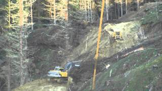 Road building,Putere, New Zealand part1