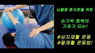 뇌졸중,뇌경색,뇌출혈 손가락회복을 위한 팔재활운동 상지…