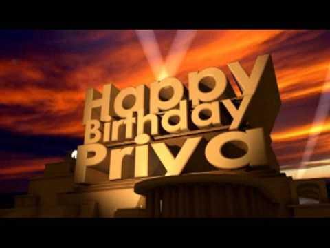 Happy Happy Birthday Priya
